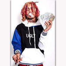57740 Lil Pump Money Rap Music Singer Star FRAMED CANVAS PRINT Toile