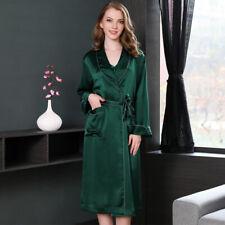 Pure Silk  Heavy Weight Womens Long Dressing Robe