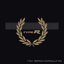 Type R Racing Wreath Decal Sticker logo vtec Civic Integra Accord JDM fit Pair