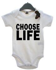 Choose Life Cute BabyGrow Funny Baby Gift Present Playsuit Funky Grow Boy Girl