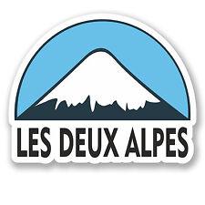 2 X 10cm LES DEUX ALPES Snowboard adesivo vinile iPad Laptop BAGAGLIO VIAGGIO # 5134