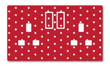 Rojo Polka Dot UK Plug Socket Pegatinas Niños Dormitorio Sala de Estar Decoración Vivero