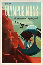 SpaceX MARS cartellone turistico per Olympus Mons vintage fine art print