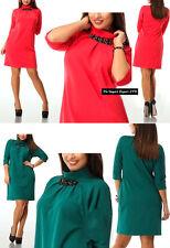 Vestito Mini Donna Taglie Grandi  Woman Mini Dress Plus Size OS120004
