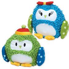 Zanies North Pole Pals Moppy Dog Toys Pet Toy Owl Plush GRUNTER CRINKLE Stuffie