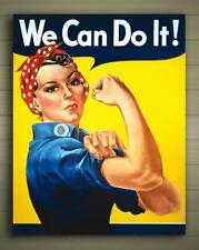 We Can do It Framed Canva Poster Miller Propoganda Rosie Riveter Sz: S to XXL