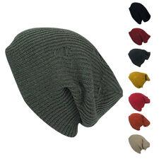 Casaba Winter Beanies Vintage Ripped Double Layer Slouch Caps Hats Men Women