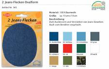Jeans-Aufbügel-Flicken 345 Reparaturflicken BW, Jeansstoff oval alle Farben