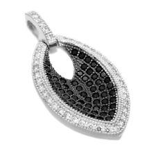Anhänger Kettenanhänger oval Zirkonia schwarz auch mit Kette echt 925/ Silber