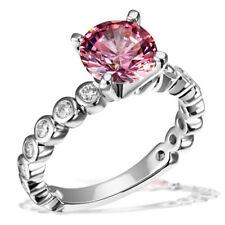 Goldmaid Ring Fancy Pink 925er Silber Sterlingsilber 16x Zirkonia weiß 1x pink