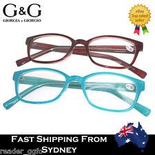 G&G Fashion Reading Glasses Frame Blue Red Pastel 1.0 3.0 3.5 4.0