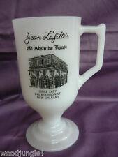 NEW ORLEANS JEAN LAFITTE'S ABSINTH HOUSE BOURBON STREET MILK GLASS COFFEE MUG