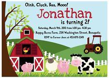 Farm, Animal, Petting Zoo, Birthday Party Invitation