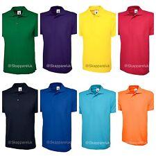 4 x Uneek Mens Ladies 220GSM Classic Polo Shirt Plain Short Sleeve Tee UC101