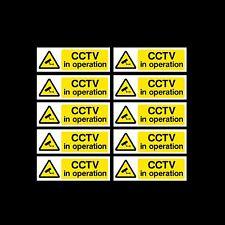 Cctv signo, paquete de pegatinas de 10 - 150 Mm X 50 Mm-seguridad, Cámara - (misc2)