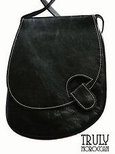 Genuine leather hand bag, shoulder bag, cross body bag, black, brown, red