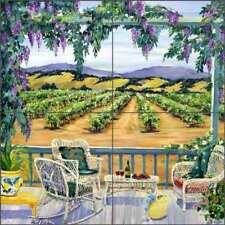 Vineyard Tile Backsplash Walker Art Ceramic Mural POV-CWA006