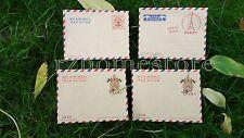 Vintage Envelope Set Mini Stationery Novelty Air Mail Paris Praha UK Christmas