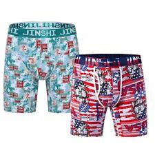 2,3 Pack JINSHI Mens Sports Boxer Briefs Bamboo Underwear Boxers Trunks Long Leg