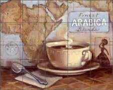 Arabica Coffee Tile Backsplash Kasun Kitchen Art Ceramic Mural EC-TK003