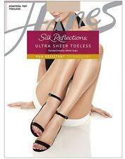 Hanes Silk Reflections Ultra Sheer Toeless Control Top Pantyhose 3pk 0B376