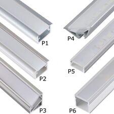 LED Aluprofil Aluminium LED Profile 2m 1m Alu Schiene Leiste für LED Streifen