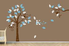 Personalized Name Monkey Tree Wall Art Stickers Kids Nursery Vinyl Decals Mural