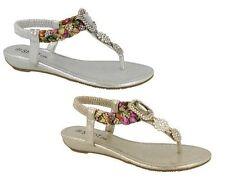 Ladies Spot On Jewelled Sandals UK Sizes 3-8 F10745