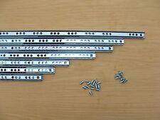 Schubladenschienen inkl SCHRAUBEN 182-430x17mm SchubladenauszugTeleskopschienen