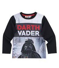 Langarm-Shirt Jungen LEGO Star Wars T-Shirt Pullover Gr. 104 116 128 140 schwarz