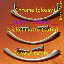 Porte de cuisine armoire placard tiroir Poignées nœud 128mm CHROME / nickel /