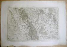 Gravure Carte d'Etat- Major de la ville de Verdun, 1835