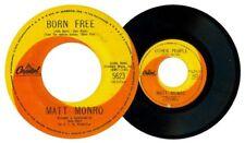 Philippines MATT MONRO Born Free 45 rpm Record