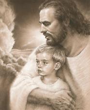 Forever Jesus Christ & Boy Print Picture by David Bowman Religious Spiritual Art