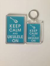 KEEP CALM AND UKELELE  Keyring or Fridge Magnet GIFT PRESENT IDEA