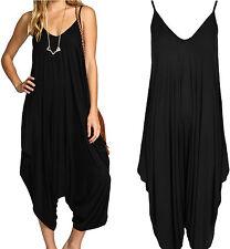 Ladies Plus Size Cami Lagenlook Romper Baggy Harem Jumpsuit Playsuit Dress 8-30