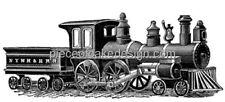 Vintage Train Drawing Edible Icing Image