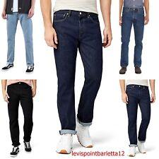 Levis 501 Jeans da Uomo Levi's strauss Pantaloni Denim Blu Dritto Stright nuovi