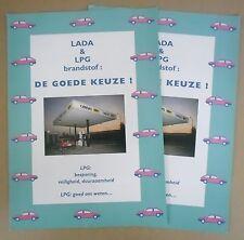 LADA & GPL c1995 BELGA MKT OPUSCOLI prospekte x2-Samara-Carlotta 2107 ecc.