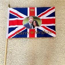 Prince Harry and Meghan Markle Flag Royal Wedding Large Hand Flags 45x30cm