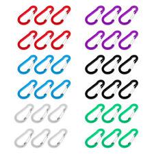 6Pcs Aluminum Snap Hook Carabiner D-Ring Key Chain Clip Hiking Keychain Tool