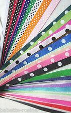 RUBAN GROS GRAIN ** 10 mm ** UNI et POIS COORDONNÉS - coloris et motifs au choix