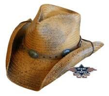 """Cowboyhut/Westernhut Strohhut """"Red Rock"""" im -Used Look- von Stars&Stripes"""