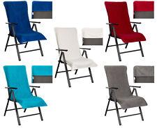 BRANDSSELLER Frottee-Schonbezug für Gartenstühle - 100% Baumwolle - ca.65x130 cm