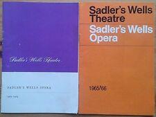 Individual Sadler's Wells Opera programmes 1960s London & Manchester programme