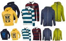 Nouveau Minoti Garçons 1957 à Rayures Rugby Shirt Superior Sweat à Capuche Sweat-shirt Âge 3 - 13