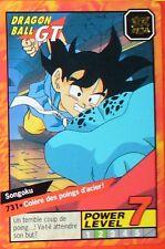 CARTE DRAGON BALL GT N° 731 SONGOKU POWER LEVEL 7 VERSION FRANCAISE