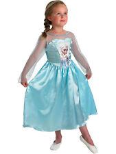 Frozen Elsa Costume Disney Licensed Princess Ice Queen Fancy Dress Outfit S M L