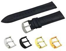 Negro Correa Croco de cuero banda de ajuste Raymond Weil Reloj Hebilla 18 19 20 21 22 mm