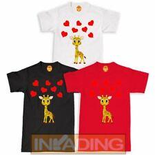 KIDS BOYS GIRLS Was/' Up Giraffe Cute Graphic Animal T-Shirt